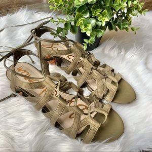 Sam Edelman Ardella lace up suede sandal